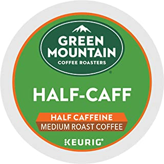 Green Mountain Coffee Roasters Half Caff, Single-Serve Keurig K-Cup Pods, Medium Roast..