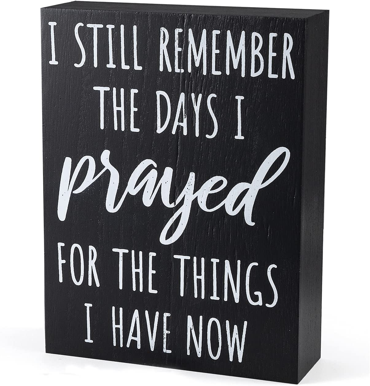 Home Decor Signs 6 x 8 Inch Wood Plaque, Modern Farmhouse Decor Wall Art Rustic Decor for Living Room, Office, Shelf Accent - Gifts for Mom Sister Grandma Christian Family Saying Quotes Decorations