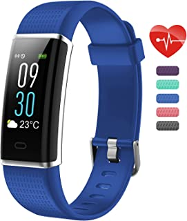 """Teslasz Fitness Tracker HR, ID130Plus Color HR IP67 Waterproof 0.96"""" Color Screen Display Heart Rate Monitor Calling and Hang Up Watch Step Counter Pedometer Activity Fitness Tracker"""