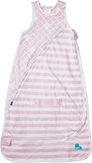 Love To Dream Inventa Sleep Bag/Wearable Blanket with Unique Vented Cooling System, Luxurious Super-Soft Cotton, Stylish Fashion Design, 1.0 TOG, 4-12 Months, Light Pink