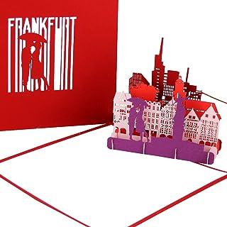 "Grußkarte ""Frankfurt - Panorama"" - 3D Pop Up Karte der"