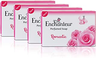 Enchanteur Romantic Perfumed Soap, 75g (Buy 3 Get 1) with Roses & Jasmine Extracts