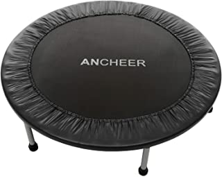 ANCHEER Mini Fitness Trampoline for Adults and Kids, Max Load 220lbs Rebounder Trampoline for Indoor Garden Workout Cardio Training (2 Sizes: 38 inch/40 inch, Two Modes: Folding/Not Folding)