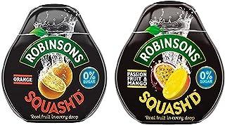 Robinsons Squash'd Orange, 66 ml & Robinson Squash'd Passion Fruit & Mango, 66 ml (Combo Pack)