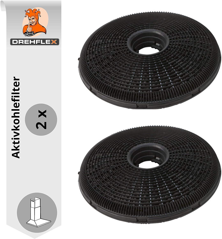 DREHFLEX -filtro de carbón activo para varios Campana extractora de AEG/Electrolux paßt para piezas de nº 9029793701/E3CFP19 también para Bosch/Siemens compatible con 00796390/(Antigua Diseño Format: Amazon.es: Grandes electrodomésticos
