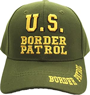 Green US Border Patrol Embroidered Hat USA Ball Cap