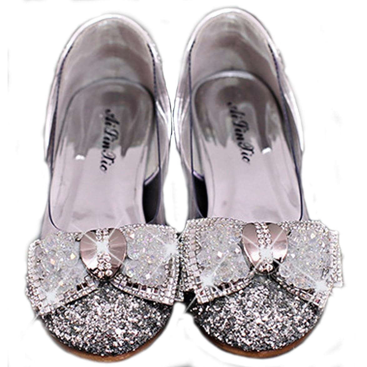 準備したケント世界記録のギネスブック[フォーペンド] S103 発表会 靴 フォーマルシューズ 女の子 ドレス シンデレラクリスタルシューズ プリンセス お嬢様 靴