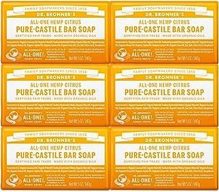 Dr. Bronner's Pure-Castile Bar Soap – Citrus, 5 oz, 6 Pack