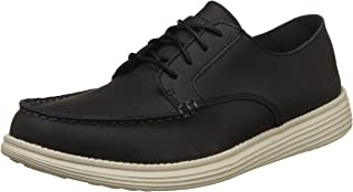 Skechers Status Lerado Mens Relaxed Fit Leather Shoes