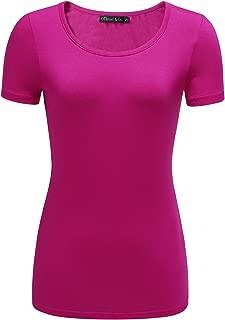 OThread & Co. Women's Short Sleeve T-Shirt Scoop Neck Basic Layer Spandex Shirts