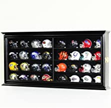 32 Pocket Pro Mini Helmet Display Case Cabinet Holders Rack w/UV Protection