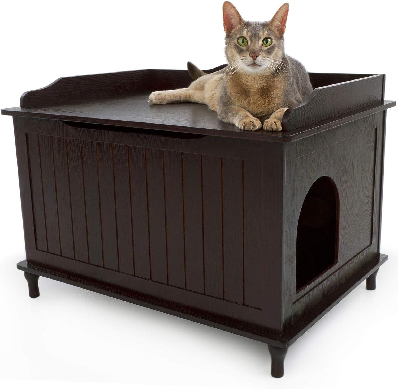 Ava Designer Catbox Litter in gift Box Manufacturer regenerated product Espresso Enclosure