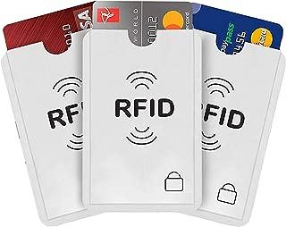 iParn RFID Sleeves Credit Card Sleeve – Credit Card Protector Sleeves Blocks Credit Cards Electronic Pickpocketing – White RFID Credit/Debit Card Sleeves-3 Pcs