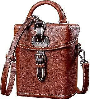 Sturdy Crossbody Purse Cross Body Handbag Creative Handbag Women Vintage Shoulder Handbag Large Capacity (Color : Brown, Size : 15x17x9cm)