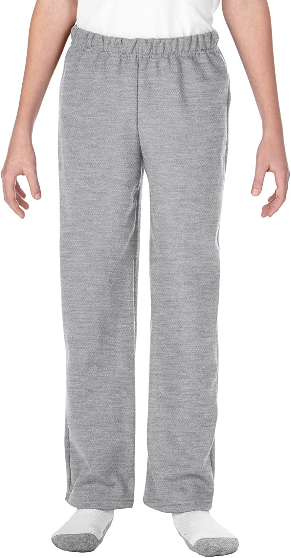 Gildan Kids' Open Bottom Youth Sweatpants: Clothing
