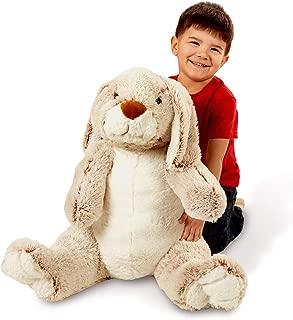 Melissa & Doug Jumbo Burrow Bunny Lop-Eared Rabbit Stuffed Plush Animal (21 Inches Tall)