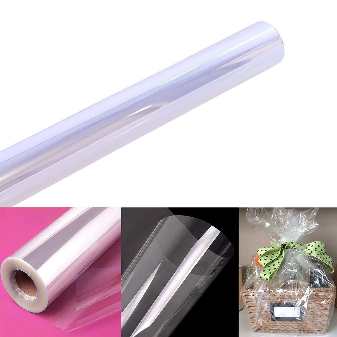 """Clear Cellophane Wrap Roll   100' Ft. Long X 31.5"""" in. Wide   2.3 Mil Thick Crystal Clear   Gifts, Baskets, Arts & Crafts, Treats, Wrapping   Meets FDA Specifications   by Anapoliz"""