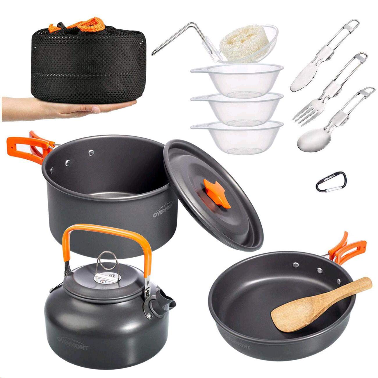 Overmont Ultralight Cookware Backpacking Mountaineering
