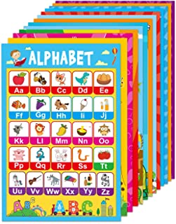 15 Educational Posters for Toddlers Kids Learning Alphabet Numbers Shapes Colors and More