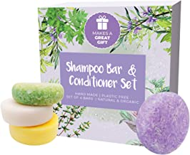 IndulgeMe Solid Shampoo and Conditioner Bar - Eco Friendly Hair Care, Tea Tree, Argan Oil, Lavender, All Natural and Organ...
