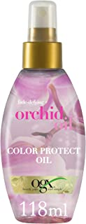 OGX, Hair Oil, Fade Defying+ Orchid Oil, Color Protect Oil with UVA/UVB Filters, Spray, 118ml