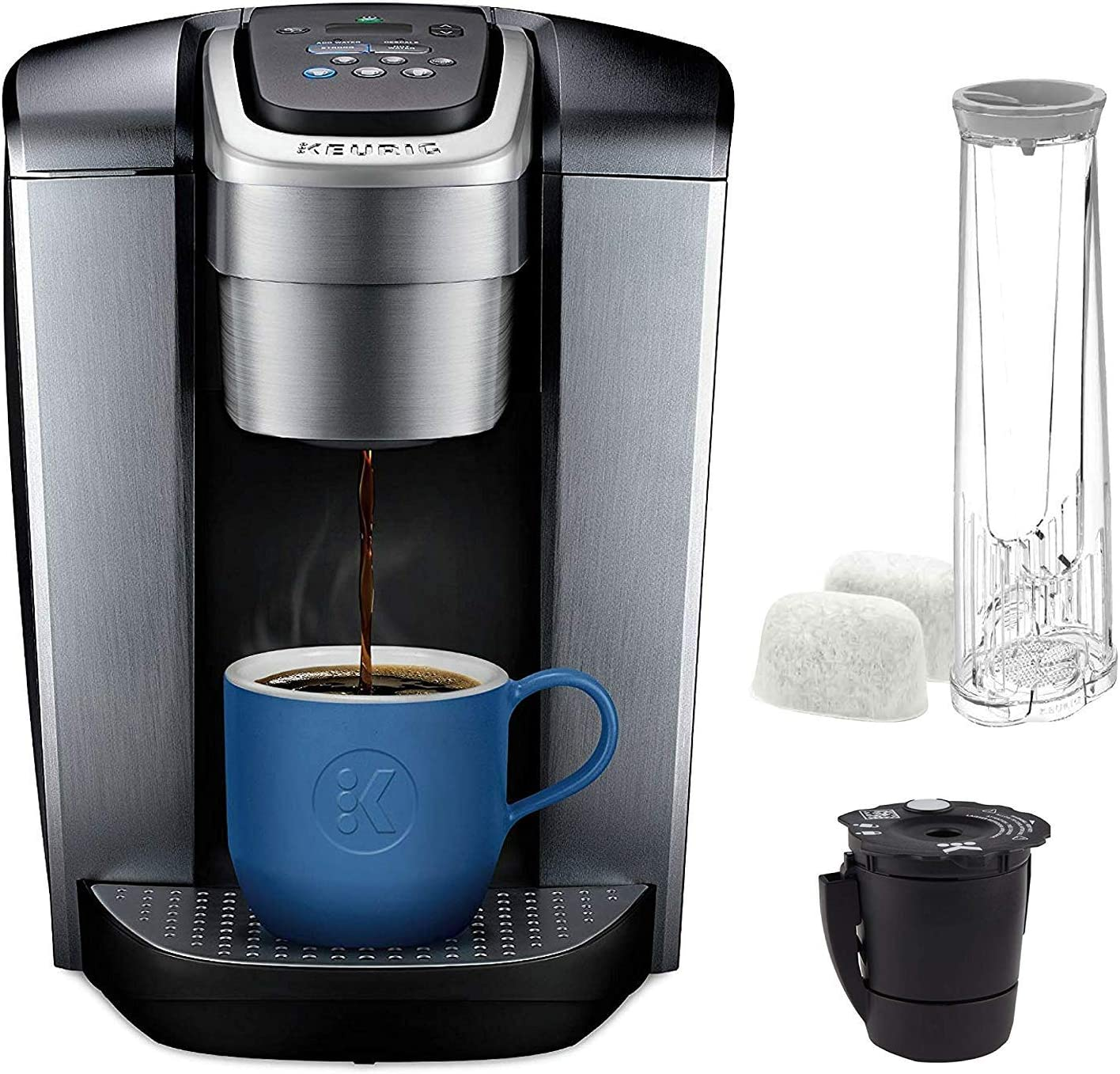 Amazon.com: Keurig C K-Elite Maker, Single Serve K-Cup Pod Brewer, with  Iced Coffee Capability, Extra Included, 75oz, Brushed Silver Plus Filter  Bundle: Home & Kitchen