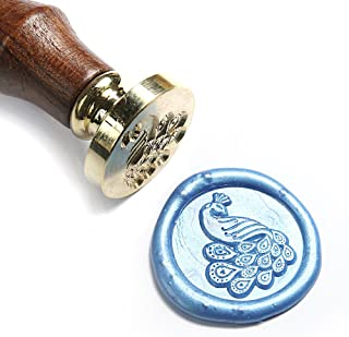 UNIQOOO Arts & Crafts Peacock Wax Seal Stamp-Great for Embellishment of Envelopes, Invitations, Wine Packages, etc- Exceptional Gift Idea for Creative Types and Everyone in-Between