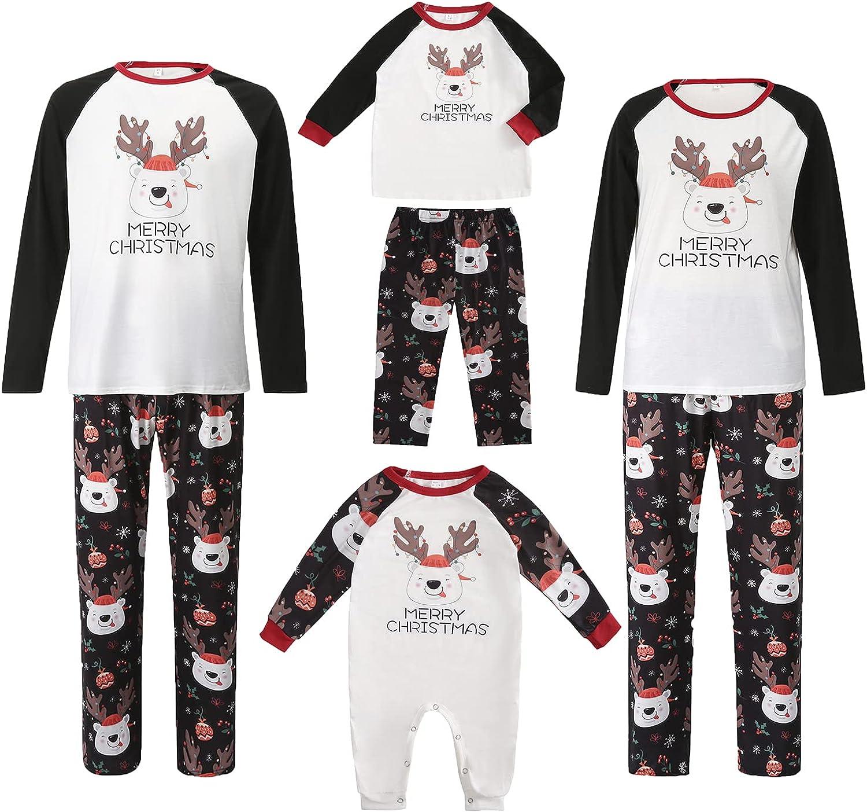Family Matching Christmas Pajamas Set Holiday Nightwear Household Print Sleepwear Sets