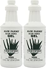 Aloe Farms Aloe Vera Gel Organic, 32-Ounce Bottle (Pack of 2)