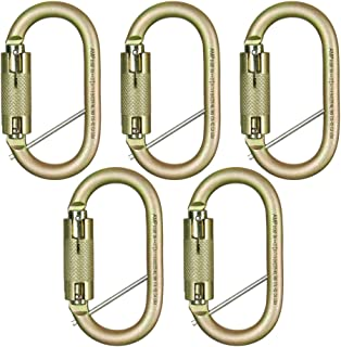 Fusion Climb Ovatti Military Tactical Edition Steel Auto Lock Oval Symmetrical Anchor Carabiner with Captive Eye Pin Gold ...