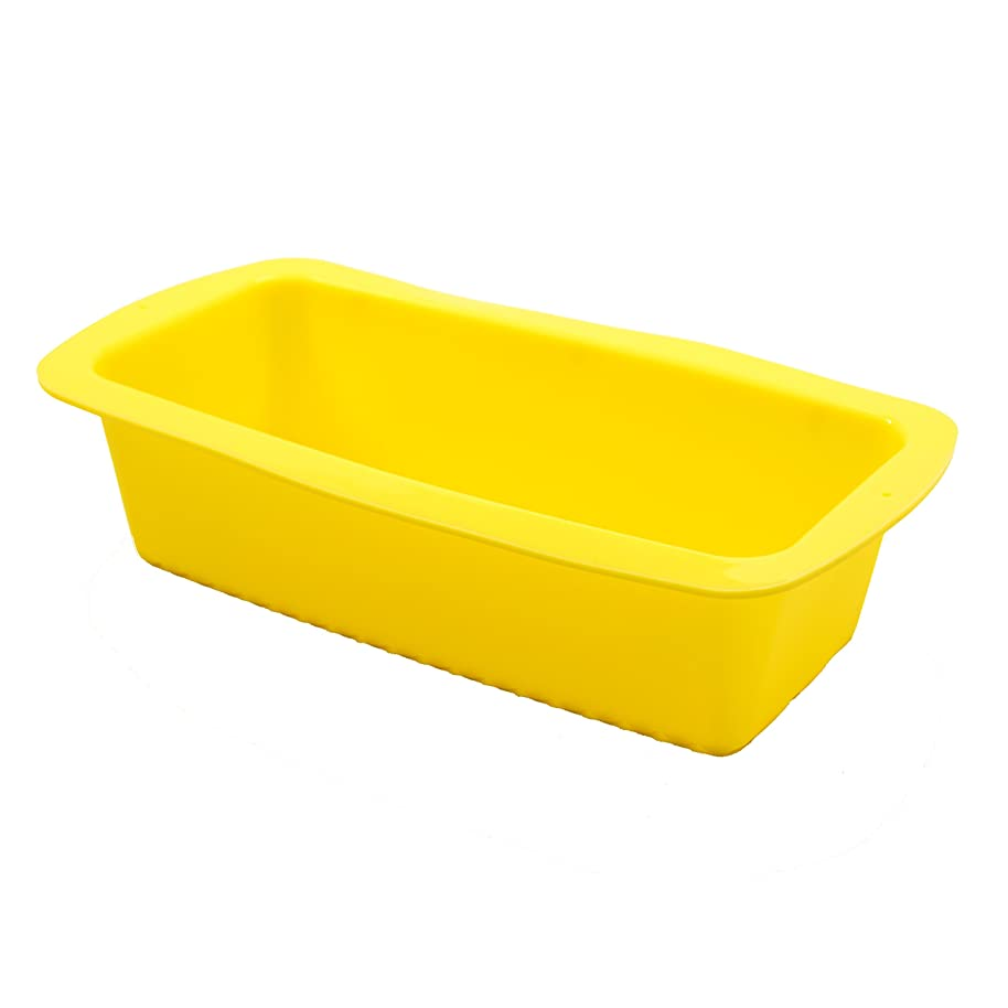 Marathon Premium Silicone Loaf/Bread Pan, Color-Yellow. SKU-KW200009YE