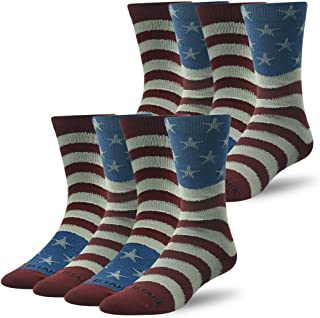 Mens Flag Dress Novelty Cotton Crew Moisture Wicking Socks Best for Business&Wedding&Casual Use, 1/2/4 Pairs