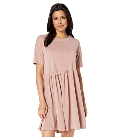 American Rose Melanie Pocketed Ruffle Dress (Dusty Blush) Women