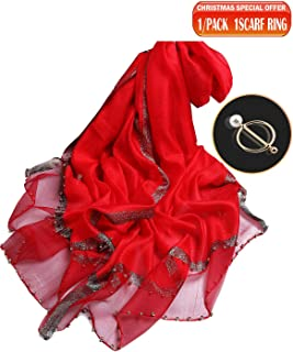 Best red silk shawl Reviews
