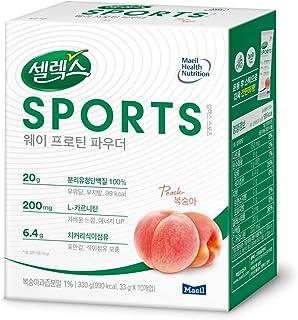 Maeil Selecs Sports Whey Protein Powder Peach, 11.64 OZ (330 g) 10-1.16 OZ (33 g) Packets   100% Whey Prote...
