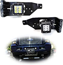 iJDMTOY Foglight Location Fit LED Pod Light Kit For 2005-2007 Ford F250 F350 F450 Super Duty, Including (2) 3-Inch White 24W LED Cubic Lamps, Fog Area Mounting Brackets and On-Off Switch Wire Harness