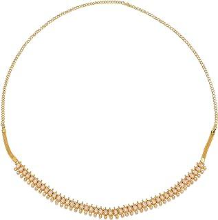 Sanjog Stunning Golden Kundan & Pearl Kundan Studded Kamarband for Women Girls (Gold)