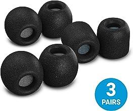 Comply SmartCore Audio Pro Premium Almohadillas para audífonos de espuma viscoelástica, se adaptan a la mayoría de los audífonos, cancelación de ruido, almohadillas suaves que se ajustan a tu oreja para un ajuste seguro y cómodo, con WaxGuard, paquete variado, Negro, 3 Pairs, Medium