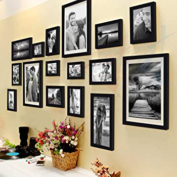 Art Street Shooting Star Photo Frame Set of 16 Individual Photo Frames with Hanging Accessories (3 Units of 8x10, 4 Units of 6x8, 4 Units of 5x7, 3 Units of 4x6, 2 Units of 6x10)