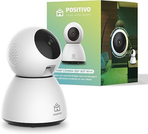 Smart Câmera 360º Bot Wi-Fi Positivo Casa Inteligente, 1080p Full HD, 25 FPS, áudio bidirecional, detecção de movimen...