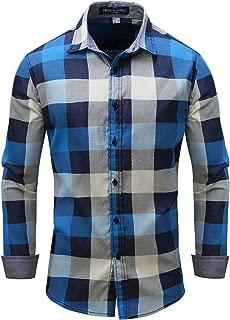 Men's Long Sleeve 100% Cotton Slim Fit Casual Button Down Dress Shirt