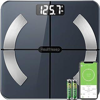 Body FatScale Healthkeep Bathroom Scale Smart Bluetooth BMI ScalesforBodyWeight Body Composition Analyzer, High Precis...