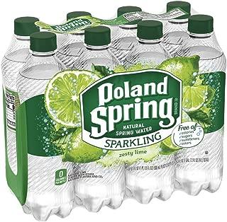 Poland Spring Sparkling Water, Zesty Lime, 16.9 oz. Bottles (8 Pack)