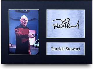 HWC Trading Patrick Stewart A4 Sin Marco Regalo De Visualización De Fotos De Impresión De Imagen Impresa Autógrafo Firmado por Star Trek Ventiladores De Programa De TV