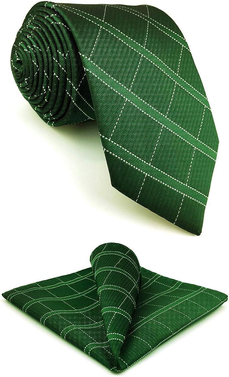 S&W SHLAX&WING Mens Ties Necktie Pack Emerald Green