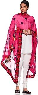 Weavers Villa Women's Indian Handicraft Ethnic Dupatta Embroided Dupatta Chunni/Stole/Scarf