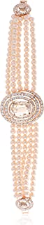 Swarovski Elements 18K Gold Plated Beaded Bracelet Encrusted With Swarovski Crystals, SWR-825