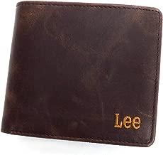 Lee 財布 リー 2つ折り財布 革財布 ブック型 0520370 LEE BOOK型 二つ折り財布 (フリーサイズ(男女兼用), チョコレート)