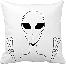 Emvency Throw Pillow Cover Blue Boy Flat Space Cute Color with Astronaut Spaceship Rocket Moon Black Hole Stars in Outer Kid Planet Decorative Pillow Case Home Decor Square 18x18 inches Pillowcase