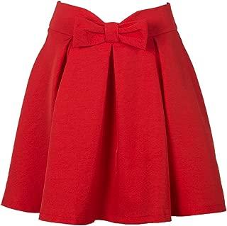 Women's Bowknot Front Waist Pleated Short Skater Skirt